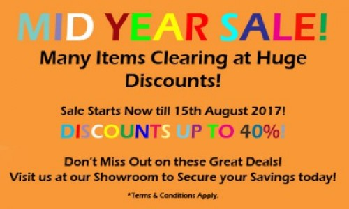 2017 MID YEAR SALE!