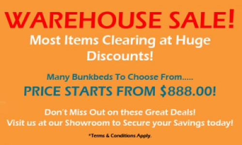 WAREHOUSE CLEARENCE SALE!